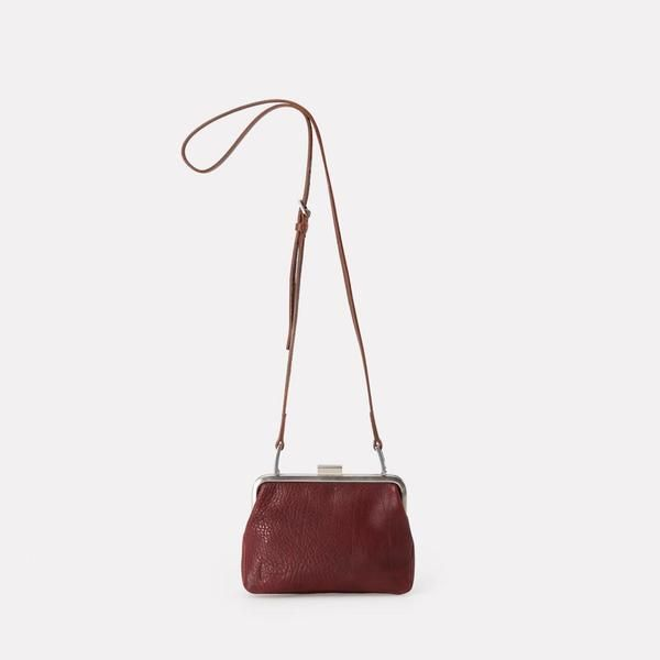 fed0112b93 NEW IN AW18 Shop Fox Small Calvert Leather Frame Bag in Plum. Mini frame bag
