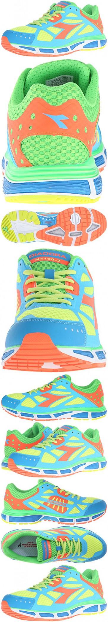 ecc18d8911f4e Diadora Men's N-4100-2 running Shoe, Royal/Orange, 9.5 M US ...