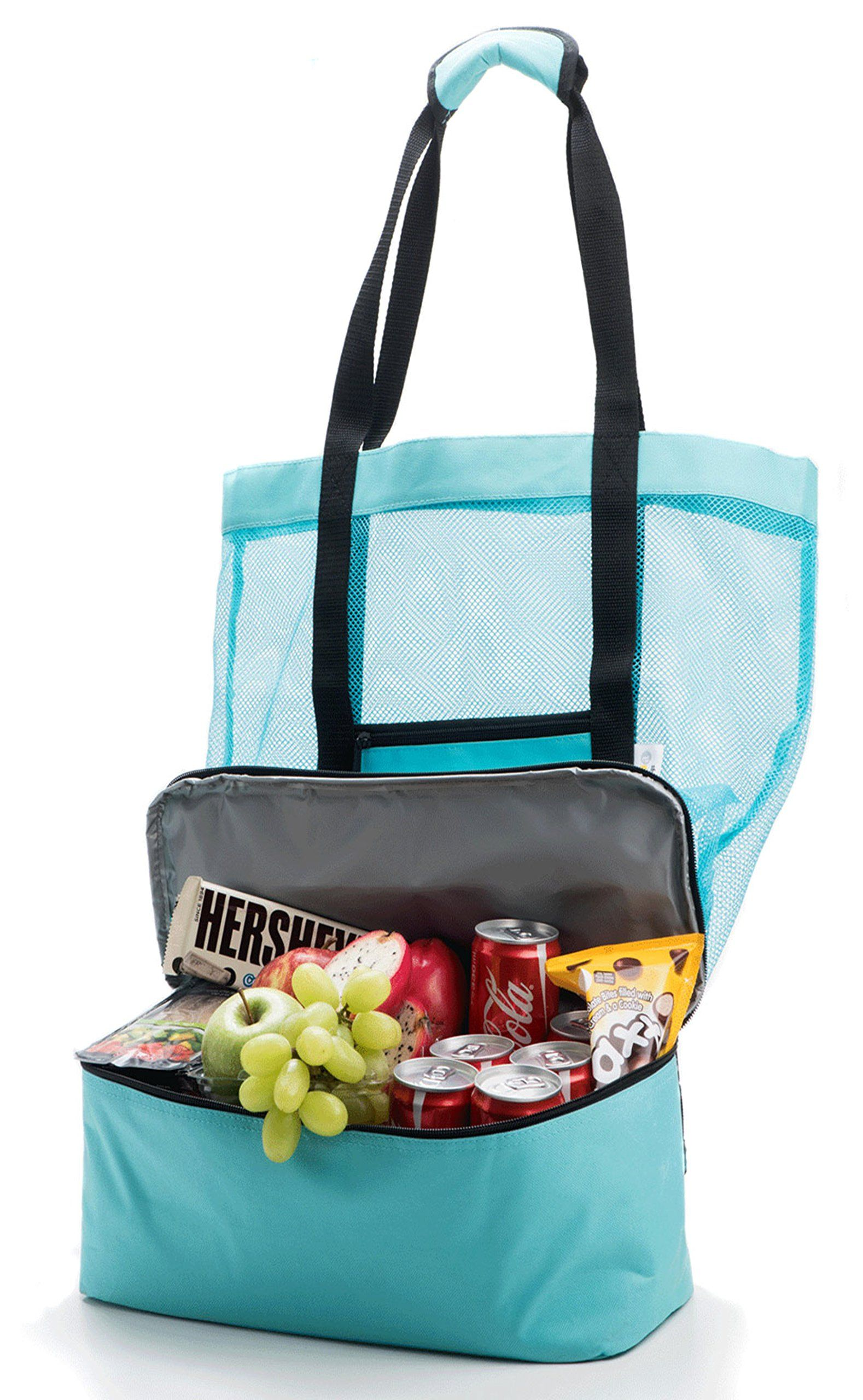Premium Beach Tote Bag With Insulated Cooler | Durable ...