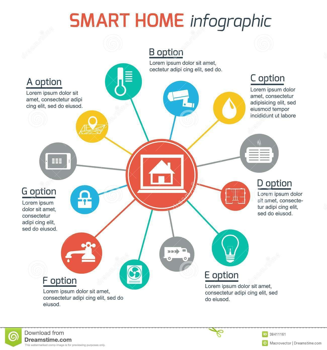 Smart Home Automation Technology Concept Royalty Free