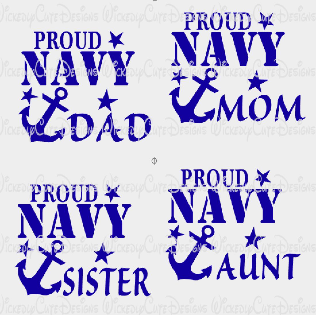 PROUD NAVY SVG, DXF, EPS, PNG Digital File Navy mom