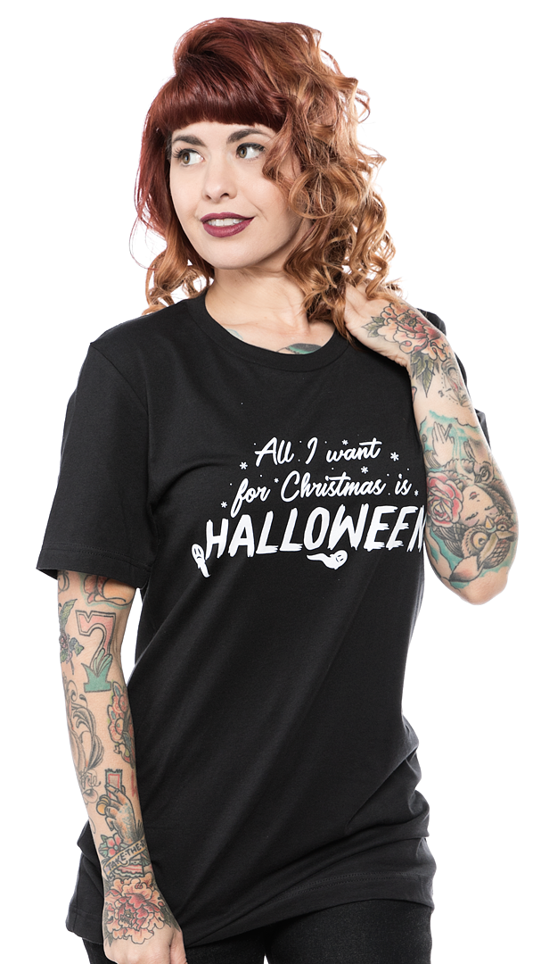 Unique Vintage All I Want For Christmas Is Halloween Tee Halloween Tees Unique Vintage Girls Graphic Tee