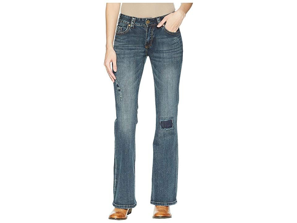 Rock and Roll Cowgirl MidRise Bootcut in Dark Vintage W1F5084 Dark Vintage Womens Jeans Take into account all the fun times ahead in these modern Rock and Roll Cowgirl Bo...