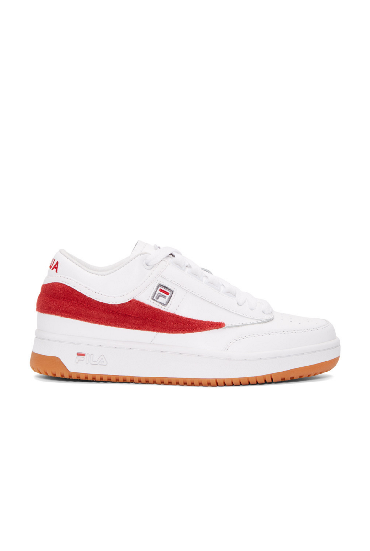 29c83ec2aaab4 Gosha Rubchinskiy White   Red Fila Edition T-1 Mid-Top Sneakers from SSENSE  (men