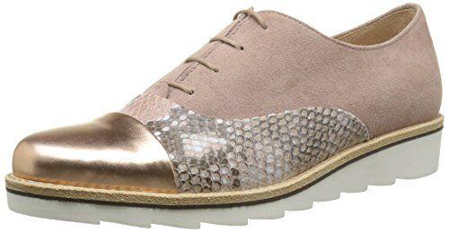 Shoes 42.558 Damen Derby Schnürhalbschuhe,Beige (82 Sahne (S.Apricot)),40 EU Gabor