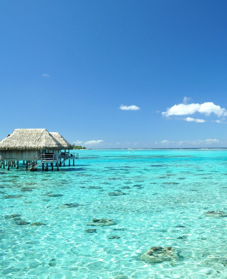 Beautiful lagoon photograph.Tahiti, French Polynesia.