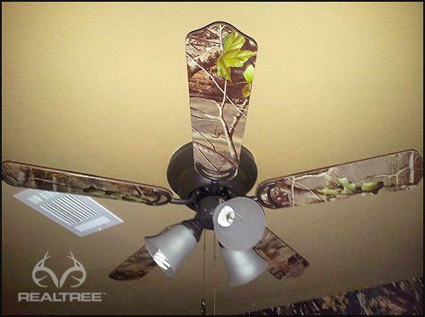Realtree Camo Ceiling Fan #Realtreecamo #camodecor
