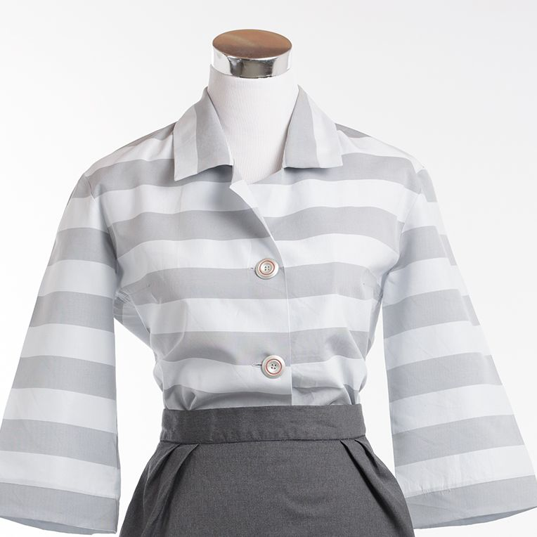 free pattern - Blockstreifenbluse (17/1) | diy vintage fashion ...