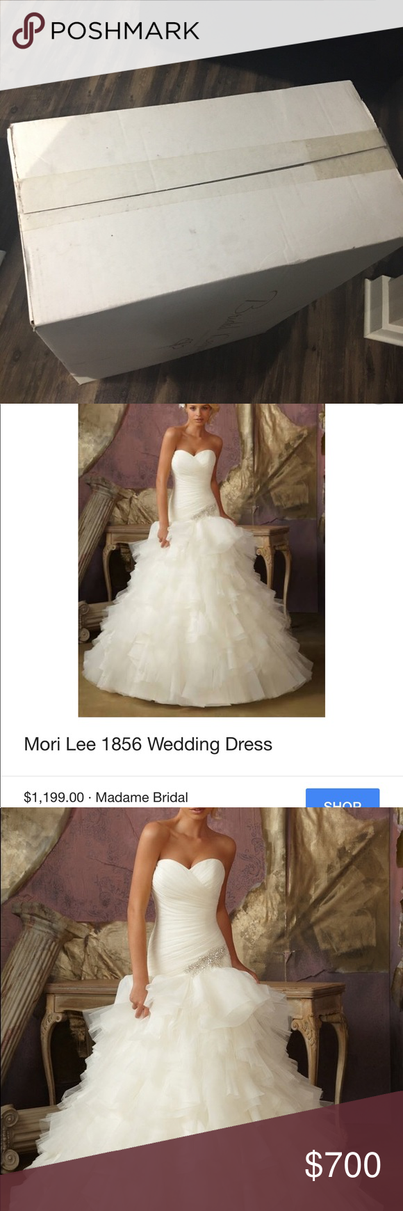 Wedding dress mori lee wedding dress only worn once paid
