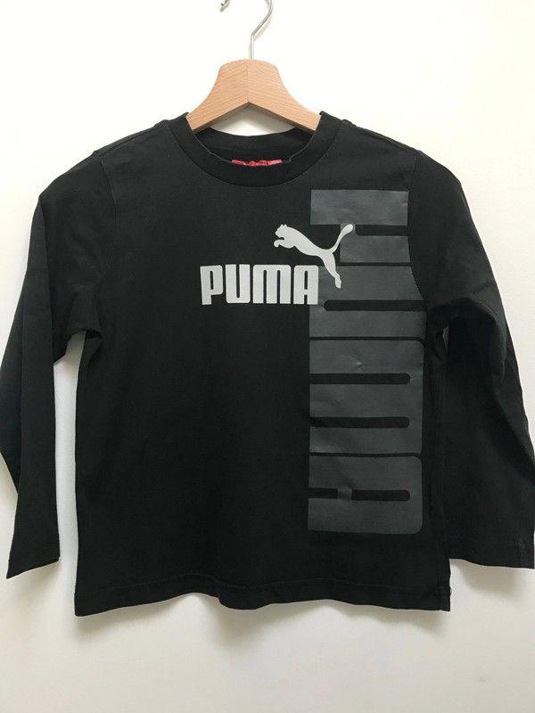 b9535ba9ebdcf T-shirt noir Puma - T-shirt Puma noir pour garçon à manches longues ...
