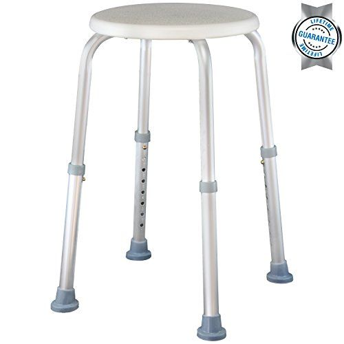 shower stool by vive adjustable bath seat lightweight u0026 portable chair for elderly