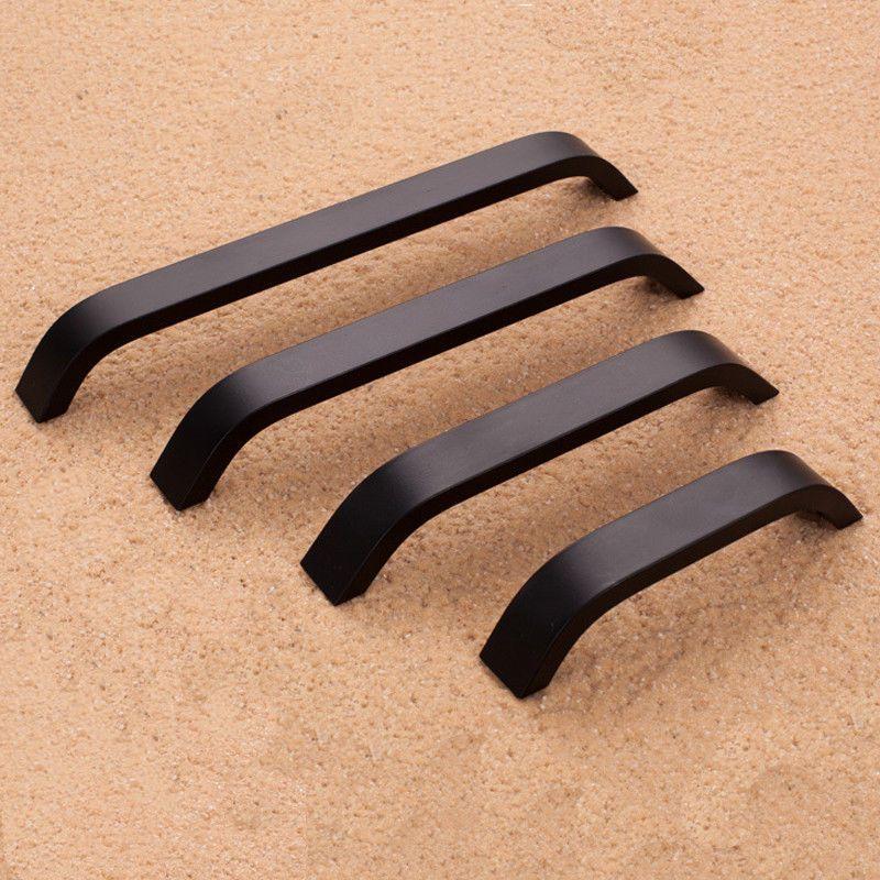 96mm 128mm 160mm 192mm aluminium alloy black white door handles