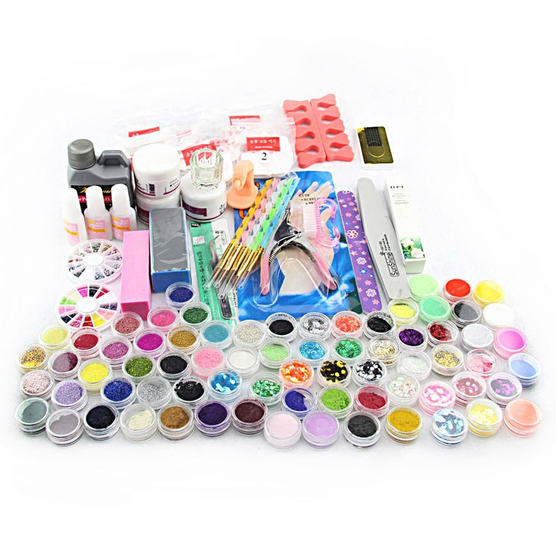 27.11$ Watch now - 2016 Manicure kit Acrylic Powder Liquid Brush ...