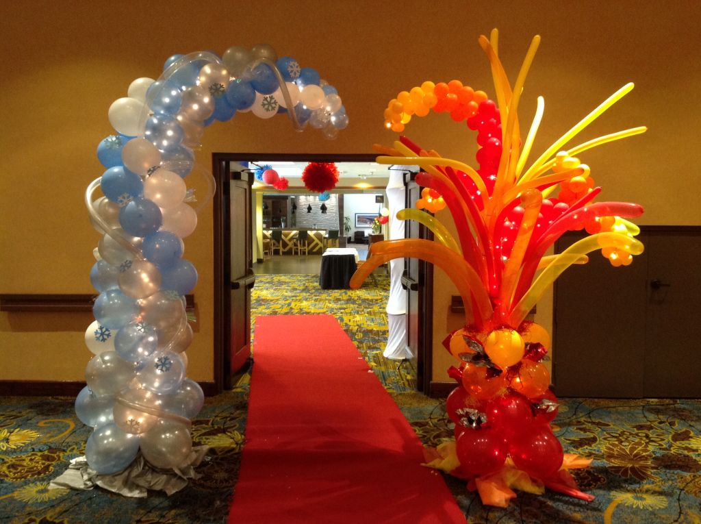 Cherriu0027s Balloons Fire and Ice Prom