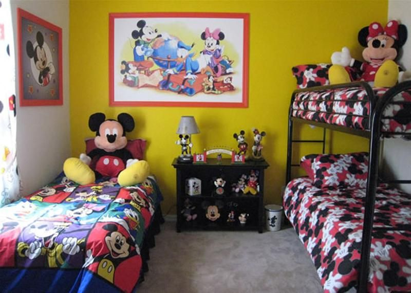 15 Mickey Mouse Inspired Bedrooms for Kids - Rilane   Grands ...