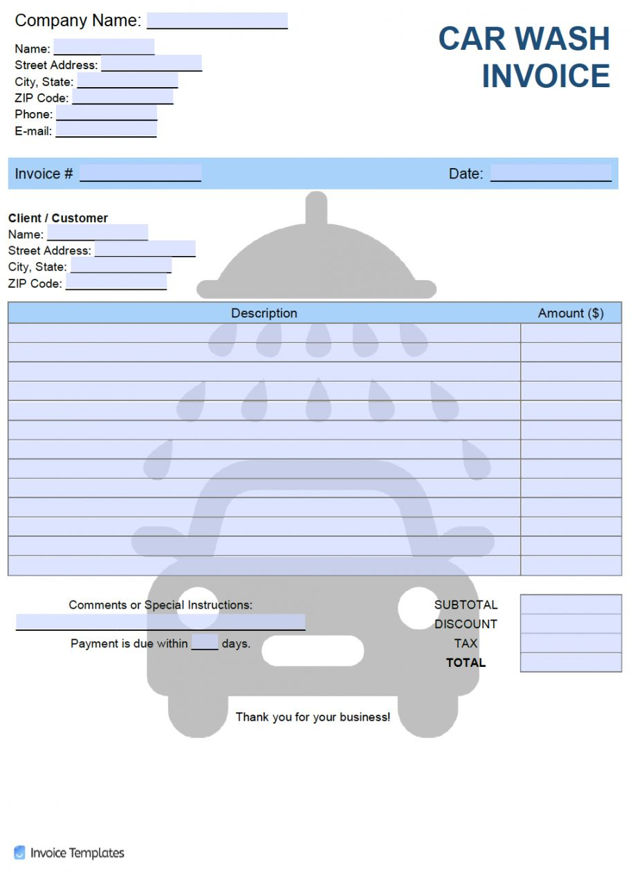 Explore Our Free Car Detailing Receipt Template Receipt Template Invoice Template Car Detailing