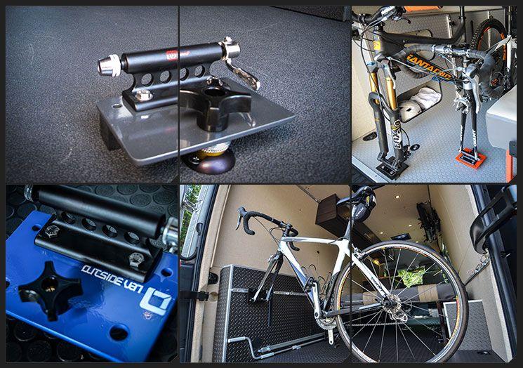 Fork Mount Bicycle Rack Outside Van Vw Van Bike Storage