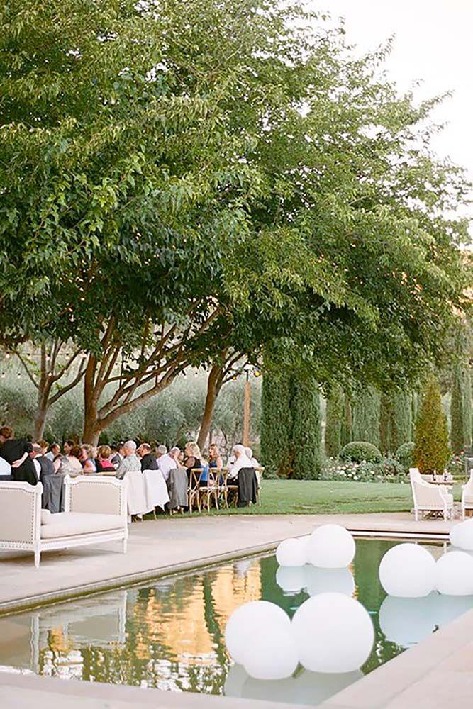 Pool Wedding Ideas wedding reception ideas 15 Wedding Pool Party Decoration Ideas See More Httpwww