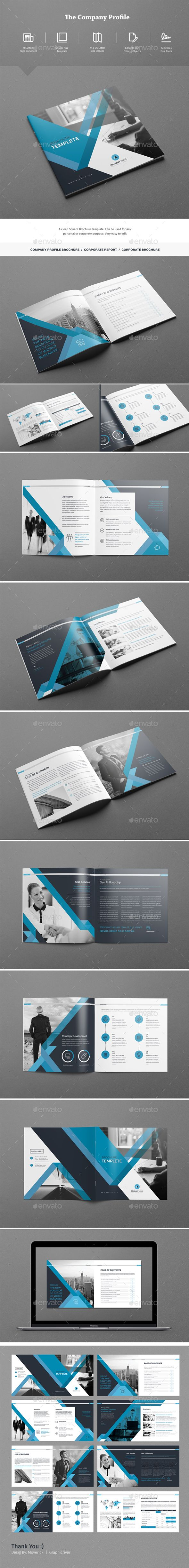 The Company Profile Brochure Template InDesign INDD | diseño ...