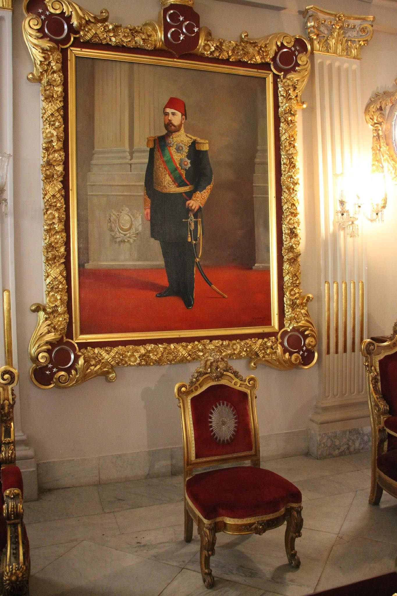 H H Khedive Ismail Pasha Of Egypt With Egyptian Coat Of Arms