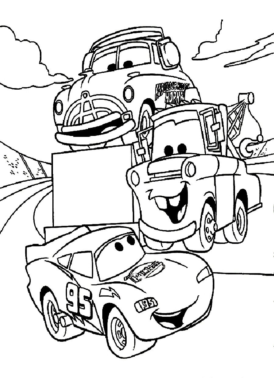 Disney cars coloring pages free large images arts for Coloring pages of cars to print