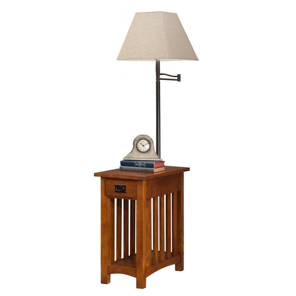 Leick Mission Chairside Swing Arm Lamp Table Table Lamp End