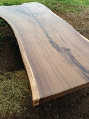 Black Walnut Live Edge Slab Dining Table