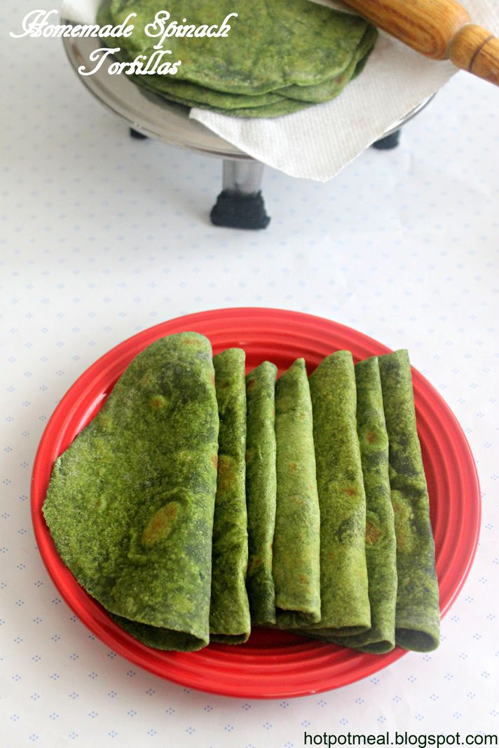 Soft and fresh homemade tortillas is so simple and easy to prepare. The fresh spinach gives more flavor too....you will be stunned with t...