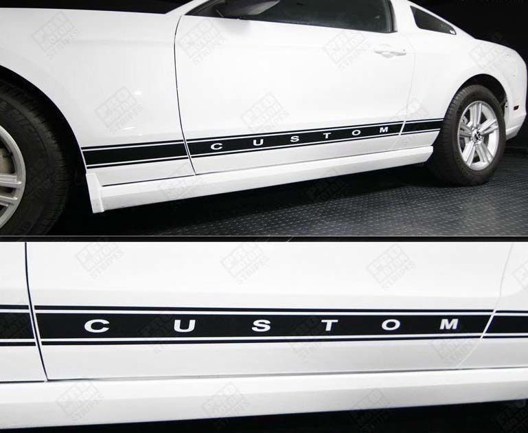 Ford Mustang 2005 2017 Rocker Panel Stripes Ford Mustang Ford Mustang