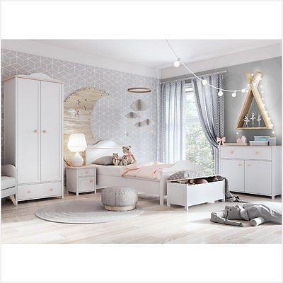 Jugendmöbel  Details zu Kinderzimmer-Set Molly Weiß Rosa Jugendmöbel Design ...
