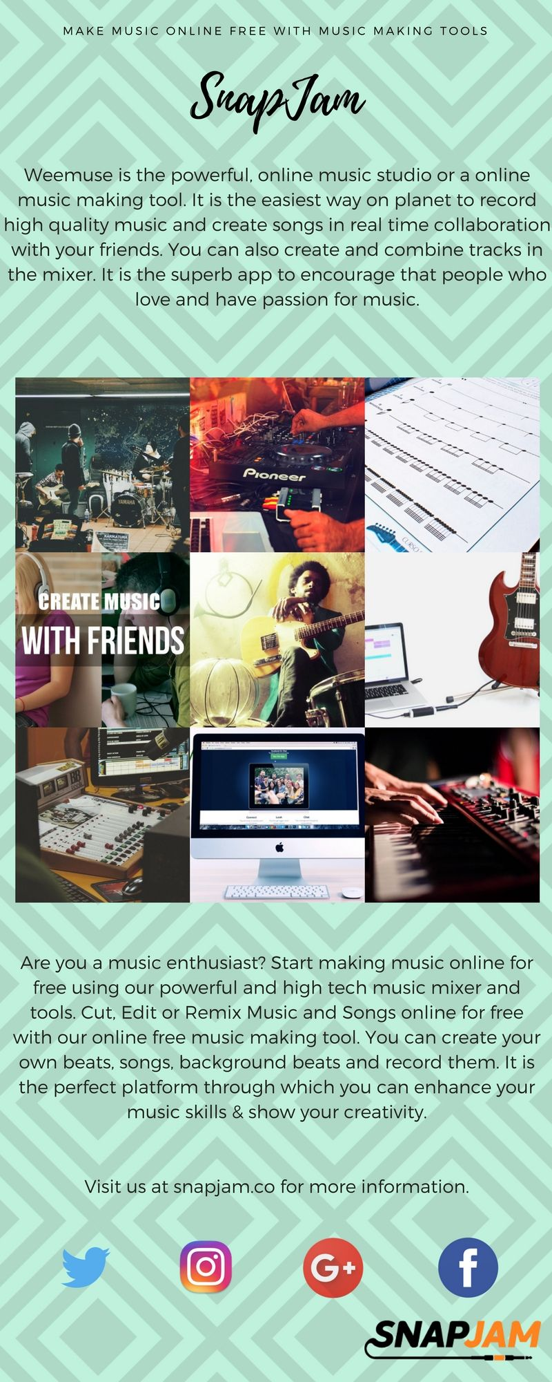 SnapJam is the best online music making tool used for music