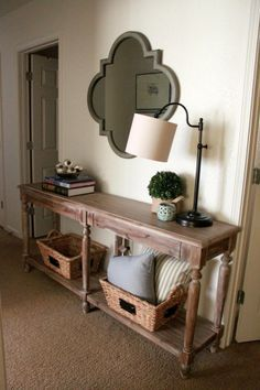 Awesome Mirror Above The Entry Table. World Market Everett Foyer Table And More On  The Blawg.