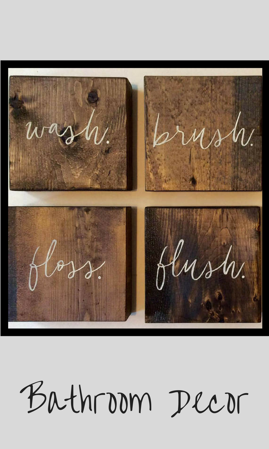 Bathroom wall bathroom wall decor bathroom decor rustic sign
