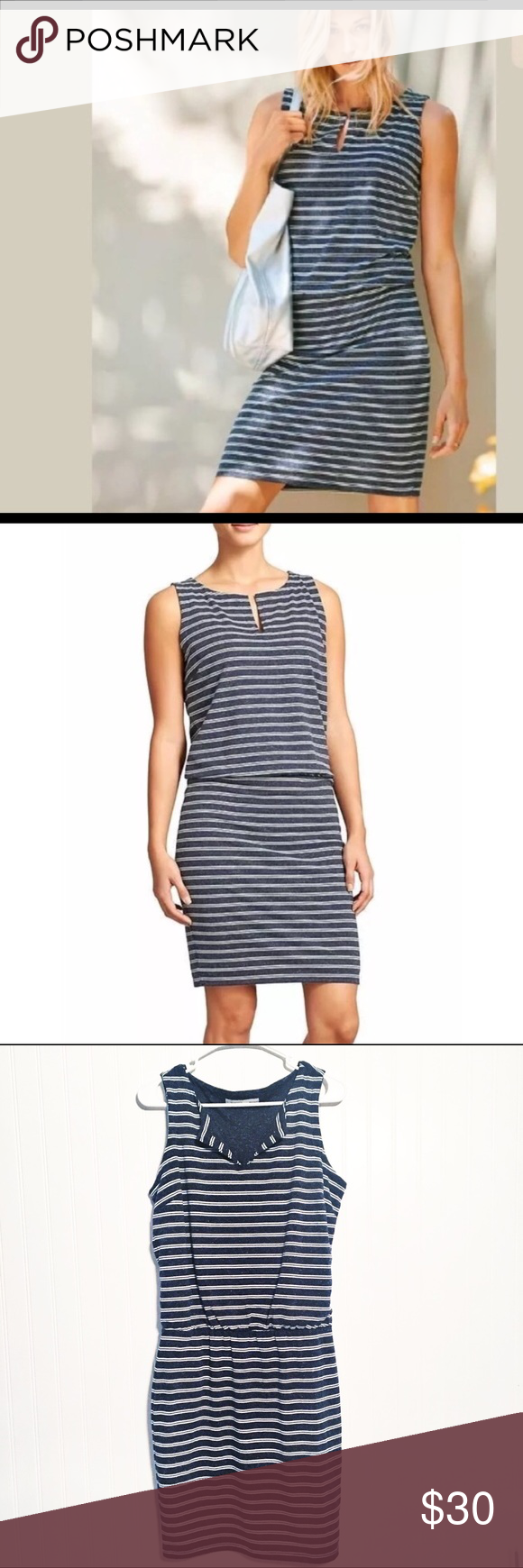Athleta Women/'s Striped Vida Dress Size M