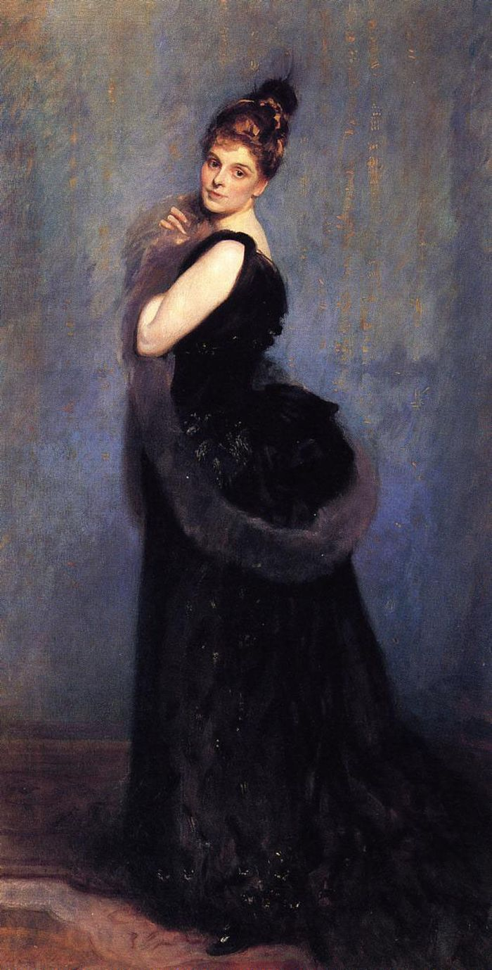 Mrs.George Gribble, 1888  by John Singer Sargent (1856-1925)
