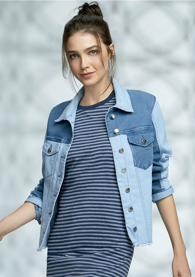 253230e5f Jaqueta jeans feminina hering em modelagem slim na Hering | Denim 1 ...