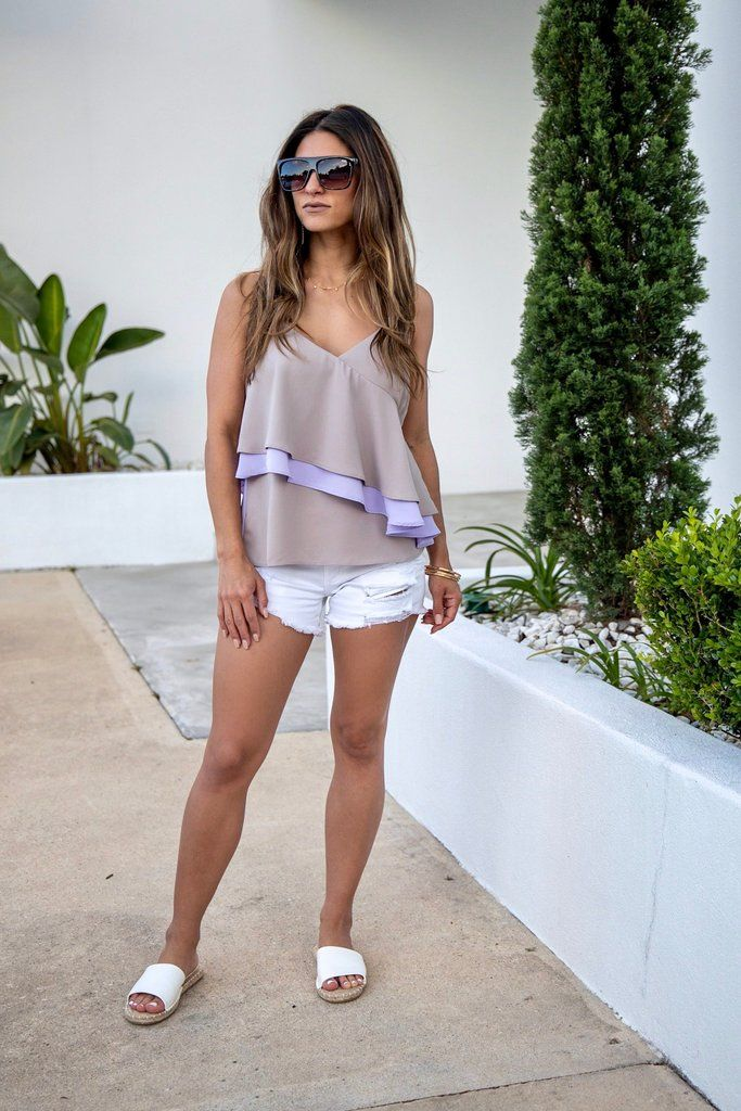 Sweet As Can Be Ruffle VNeck Top in 2019 V neck tops