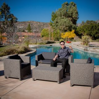 Puerta Outdoor 4 Piece Sofa Set By Christopher Knight Home With