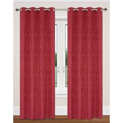 Lj Home Delta Grommet Curtain Panels Color Red Curtains