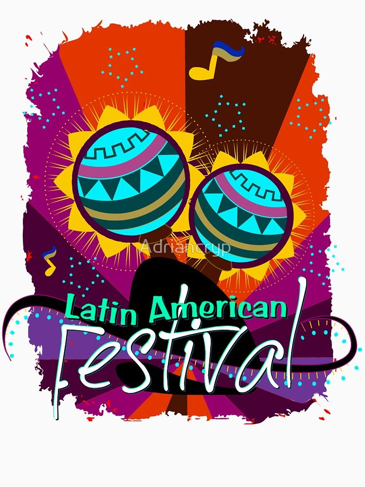 Latin American Music Dance Festival T Shirt Gift Idea Slim Fit T