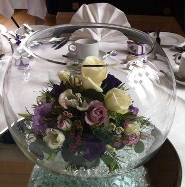Peceras para centros de mesa con flores for Centros de mesa con peceras
