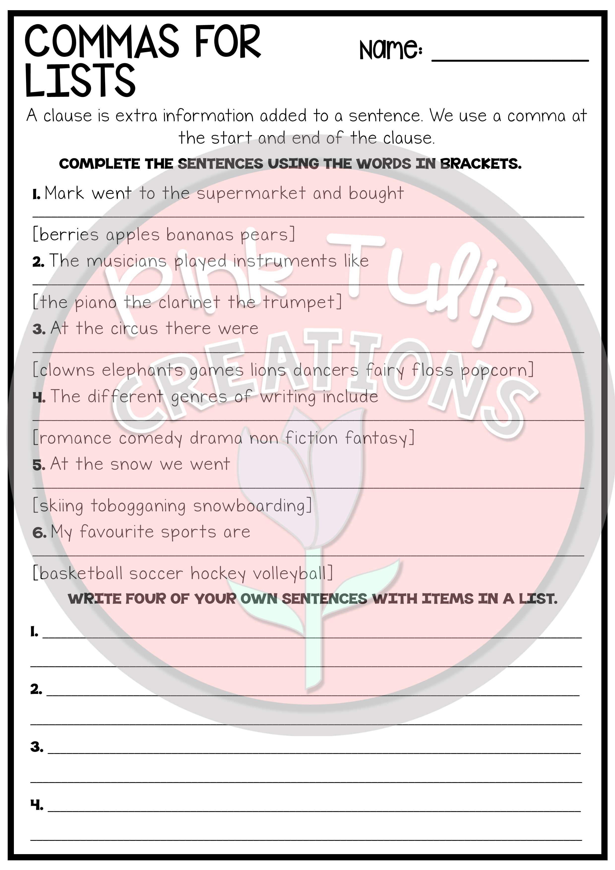 A Workbook Consisting Of Worksheets About The Different