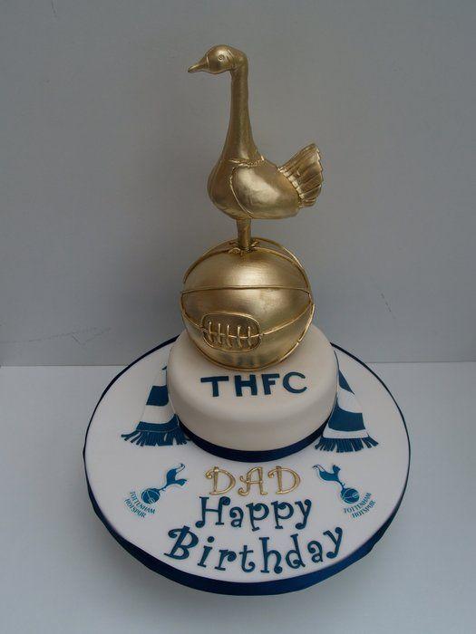 Tottenham Hotspur Football Birthday Cake Football Birthday Cake Football Birthday Soccer Cake