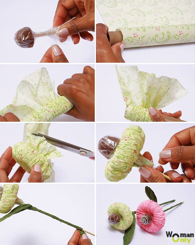 Невесты, букеты из конфет мастер класс пошаговое фото
