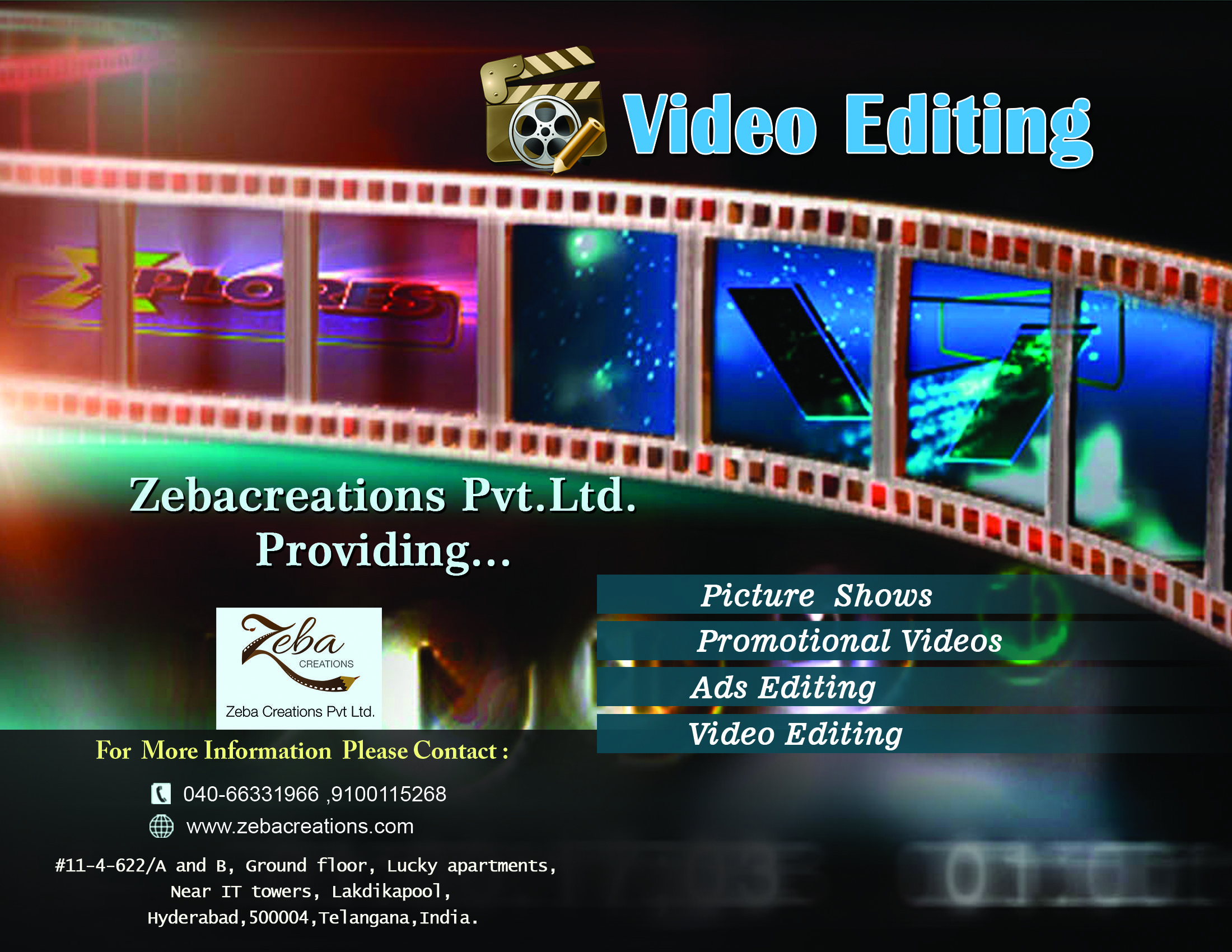 Zebacreations Pvt Ltd Providing Video Editing Services See More Http Www Zebacreations Com Promotional Video Video Editing Video