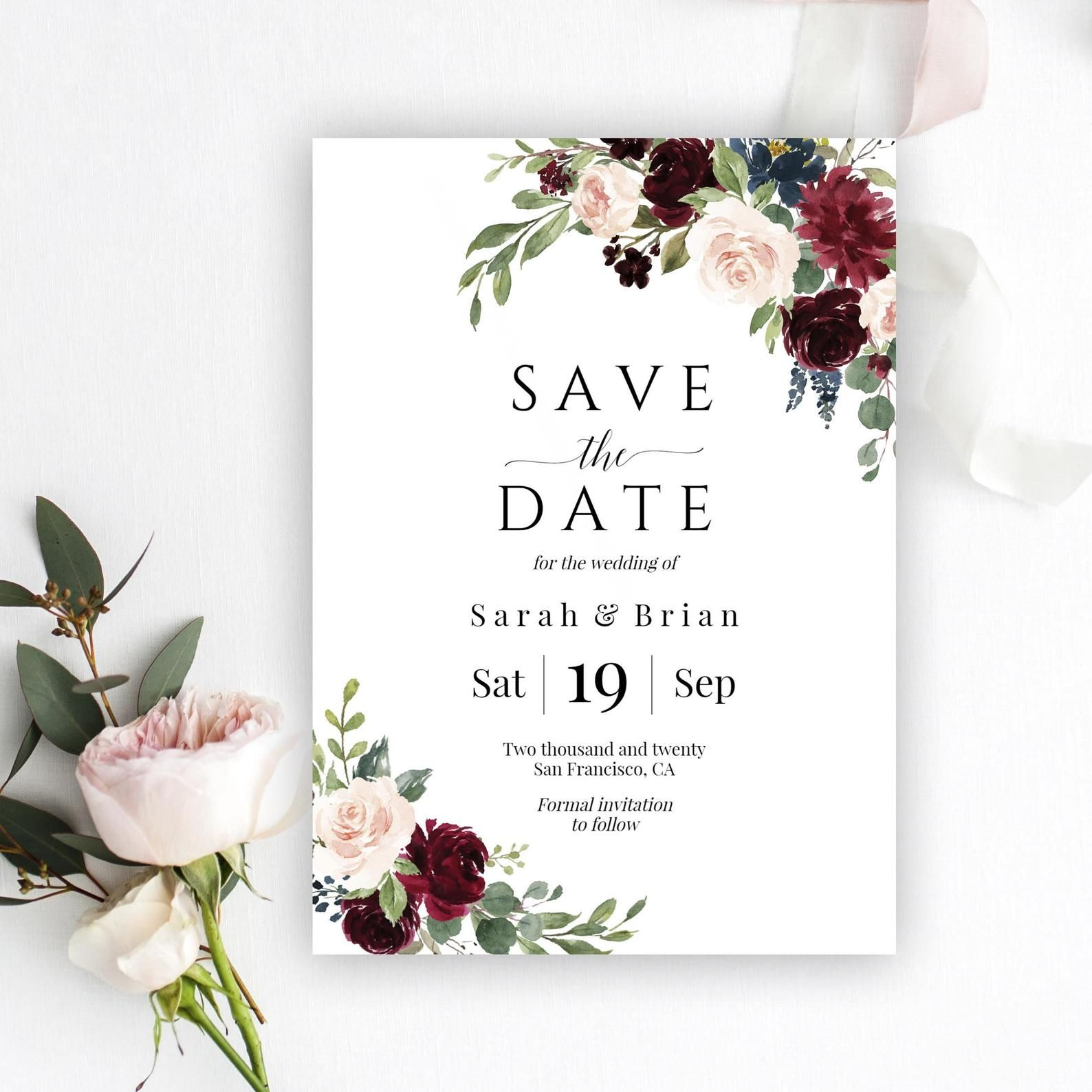 Save The Date Template Save The Date Cards Save The Dates Etsy Save The Date Save The Date Postcards Save The Date Cards