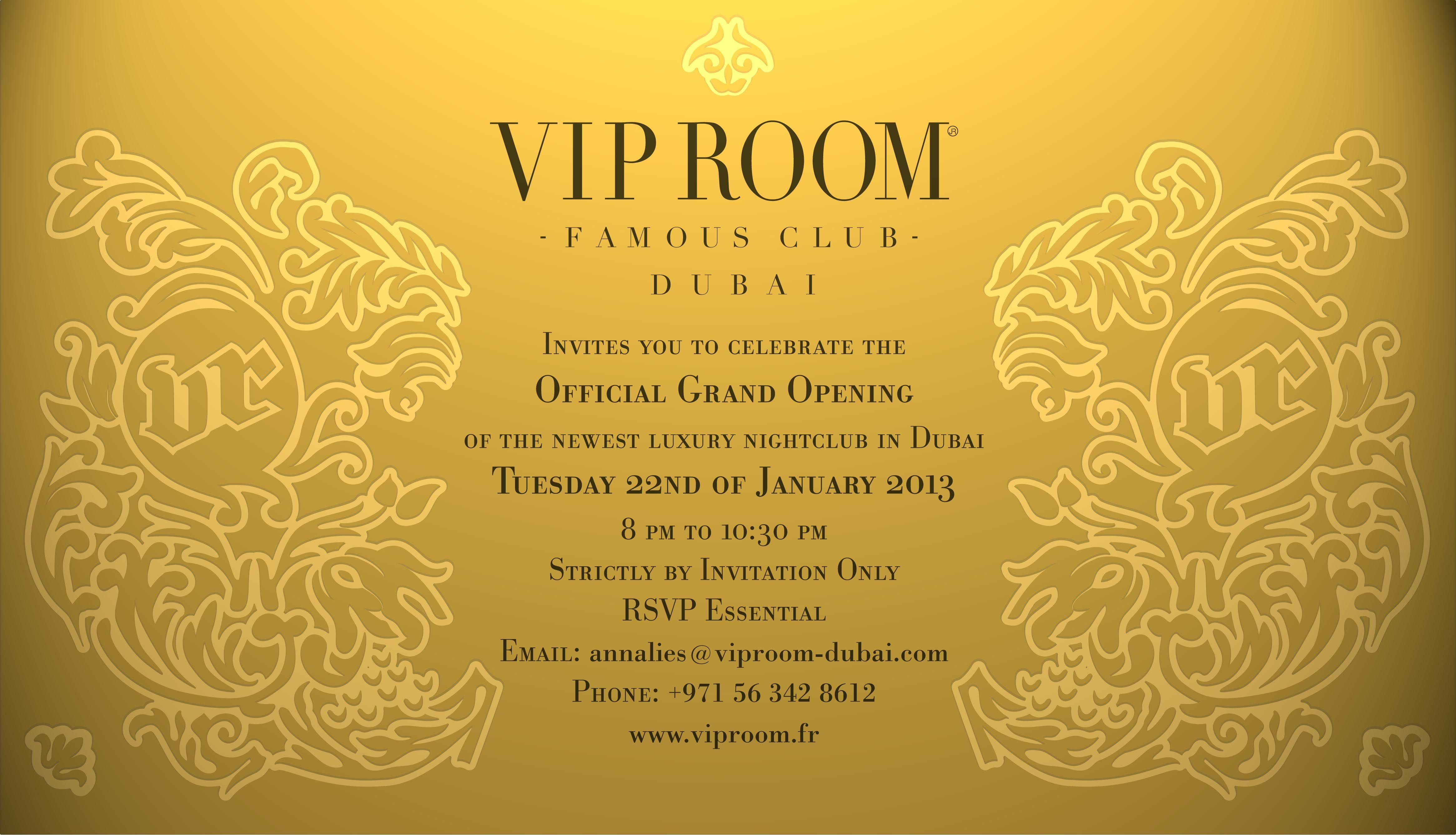 Pin By Vip Room Dubai On Official Grand Opening Press Event Event Invitation Invitations Grand Opening