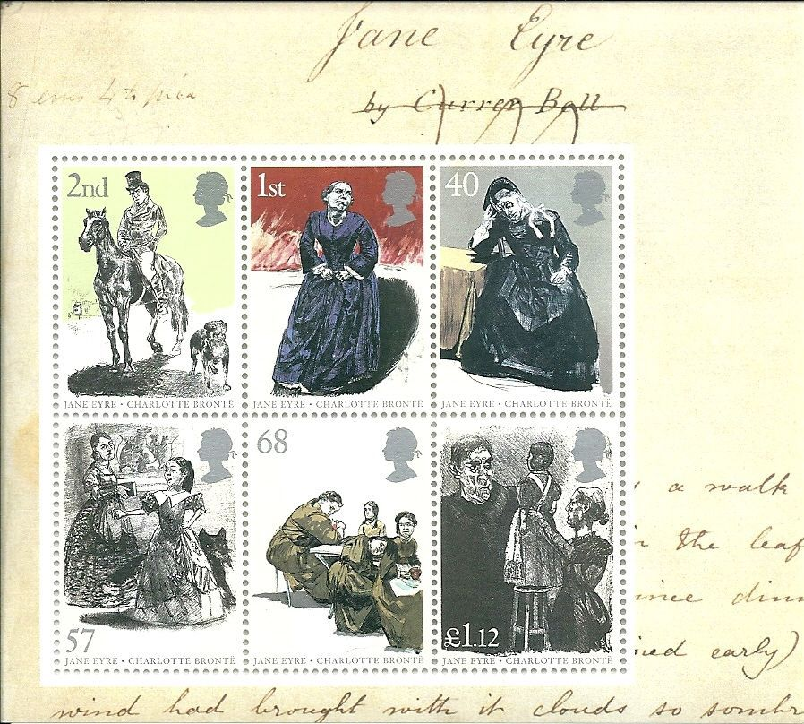 2005 gb jane eyre stamps in miniature sheet ms2524 mnh