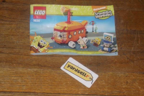Lego Spongebob Squarepants Submarine Manual - 3830   Atticus toys ...