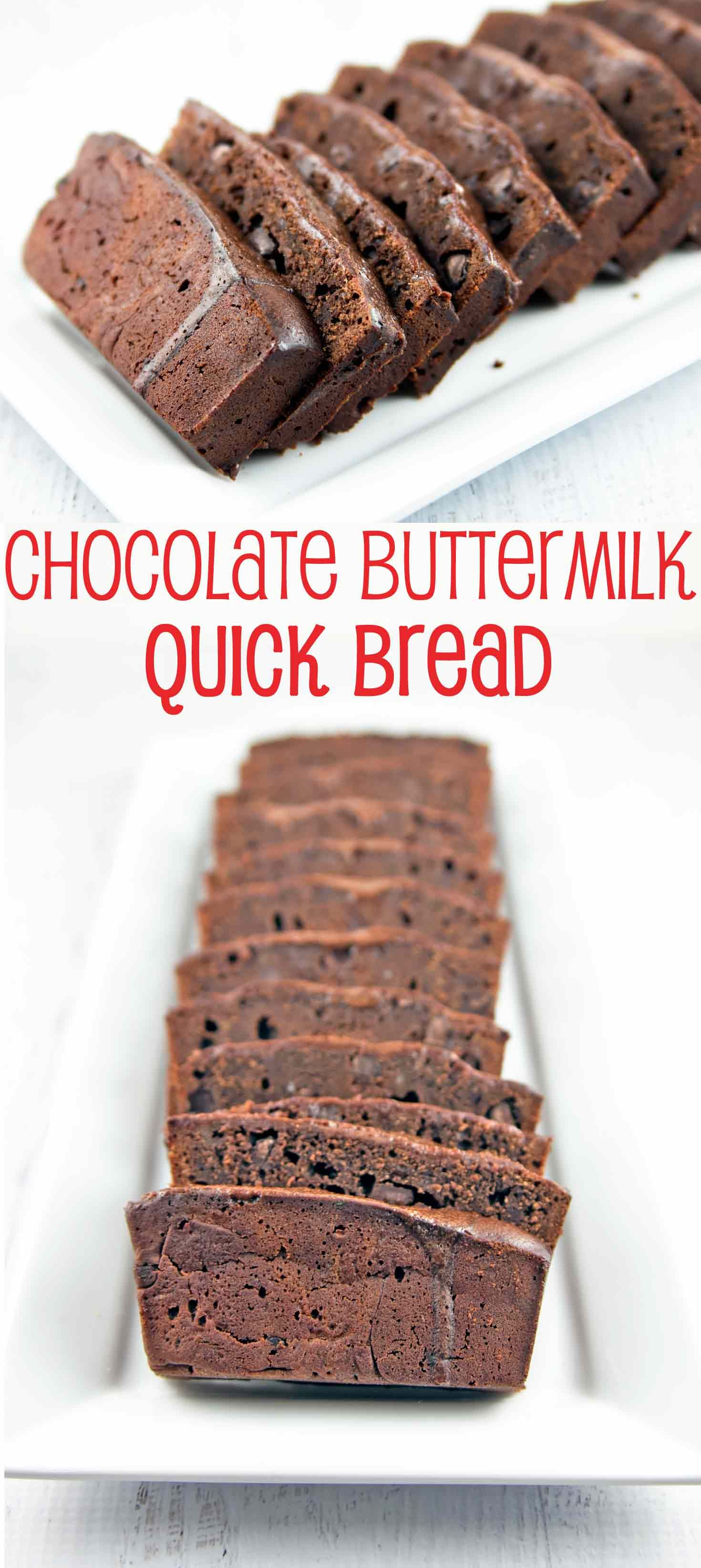 Chocolate Buttermilk Quick Bread Recipe Bread Recipes Sweet Quick Bread Buttermilk Recipes